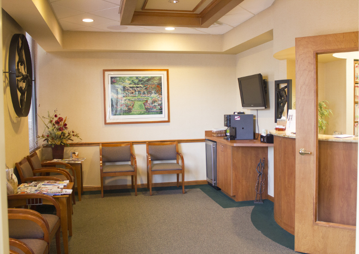Pleasant Waiting Room and Front Office