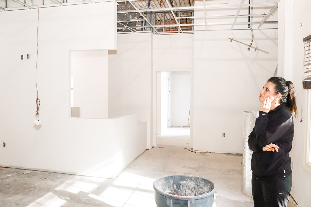 Interior construction at 104 Pheasant Run - Nicole M Armour DMD