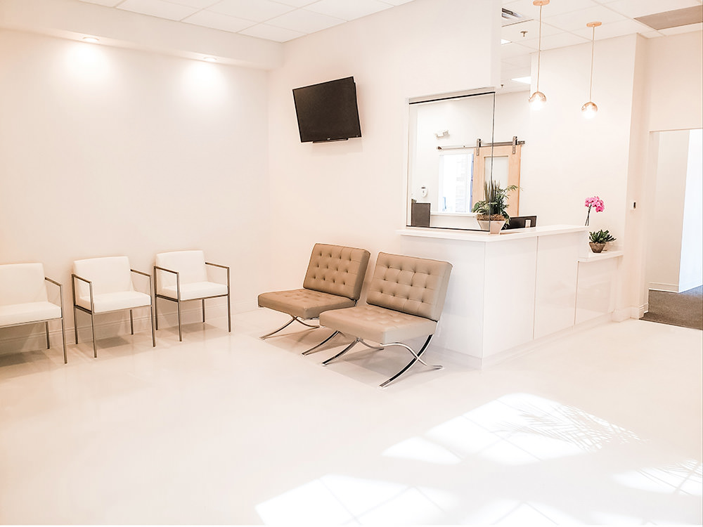 Our beautiful new waiting room!